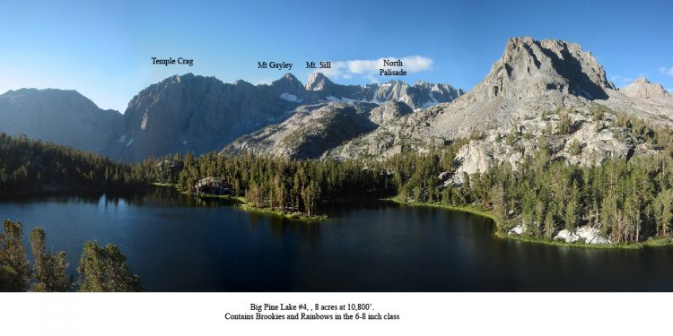 Big Pine Lakes Eastern Sierras