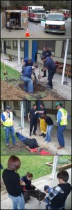 PHS/SPCA Responds to the rescue of a dog stuck in a drain pipe in 2013